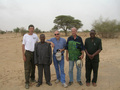#7: L to R: Gray Tappan, Larwanou Mahamane, Chris Reij, Peter Wright, Adama Toudou