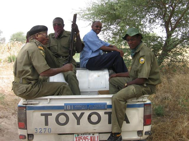 The park rangers and Abdullahi