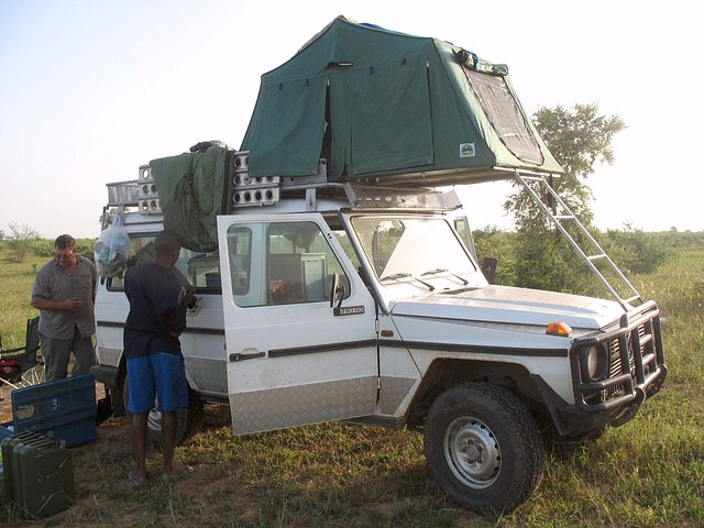 Our vehicle with roof tent