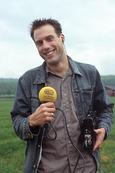 Maurice, the reporter from Netherlands Radio