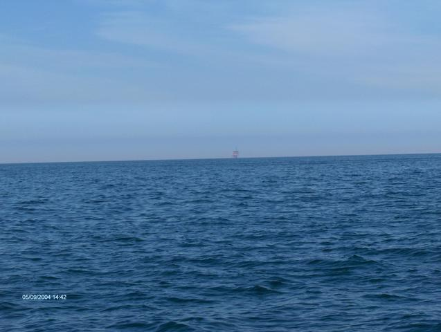 Looking to the North; an offshore platform