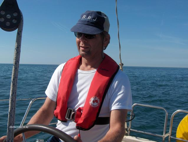 Looking to the West; PBO Capt. Nico steering