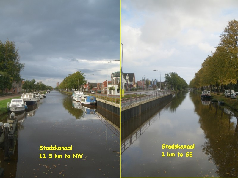 2.5 km of the channel Stadskanaal (=City-channel) is the bone of the city Stadskanaal