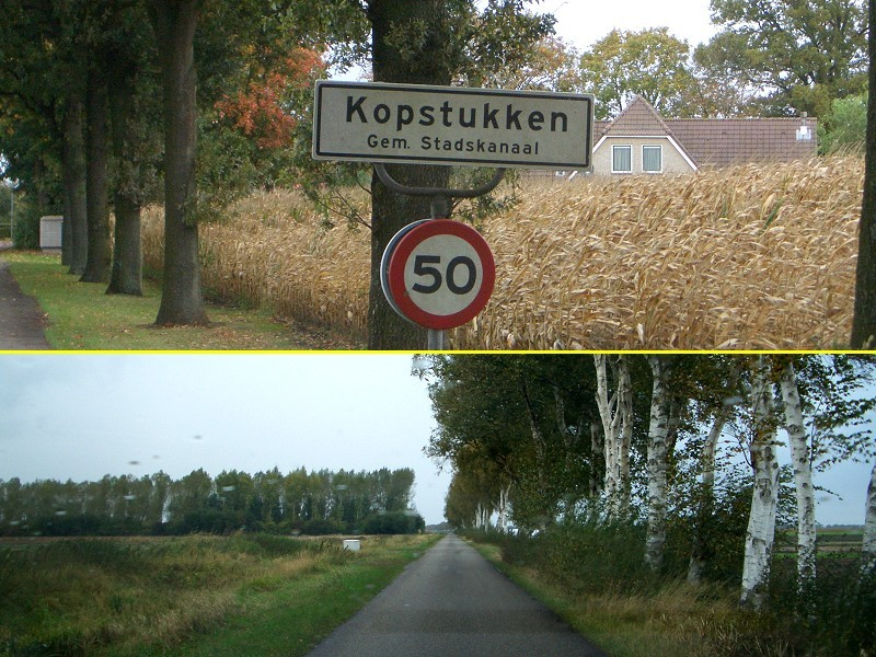 Typical long straight road, Kopstukken = People performing above standard