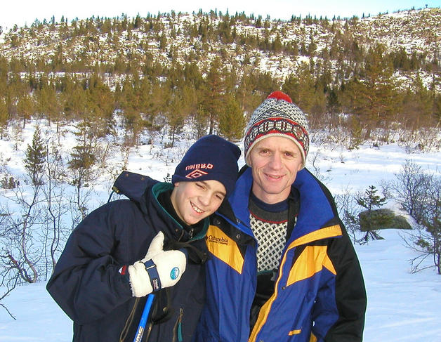 Very happy at the point: Fredrik and Terje
