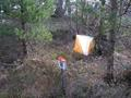 #2: Orienteering control flag at the confluence