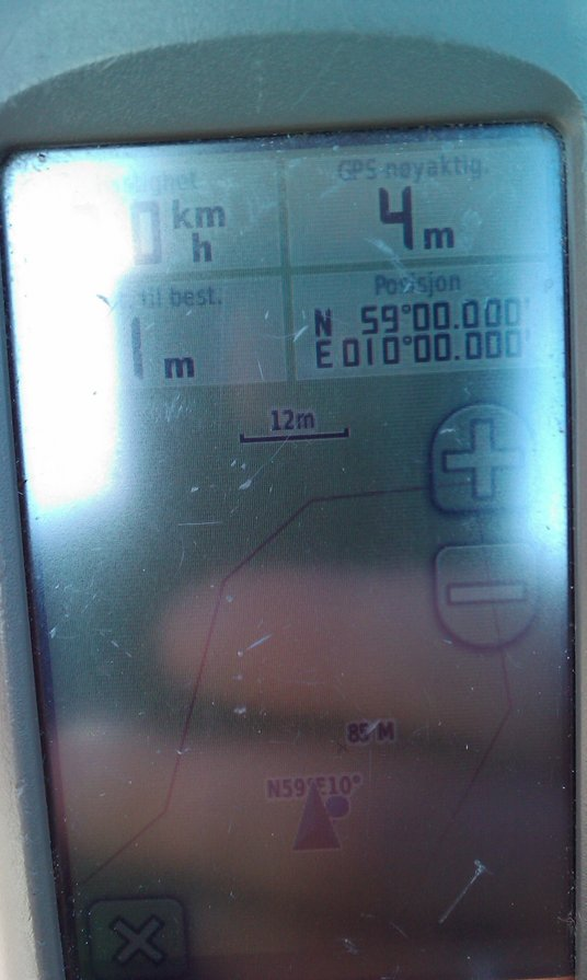 My GPS at the exact spot (bad quality)