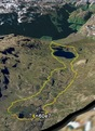 #10: Google Earth image with track log shown on high-res aerial photo overlay