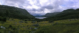 #8: View over the Valldal lake from the first hillside