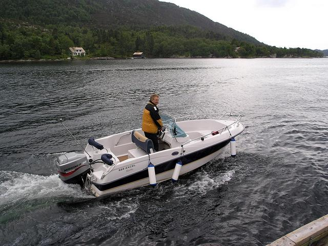 Per Vold and his water taxi