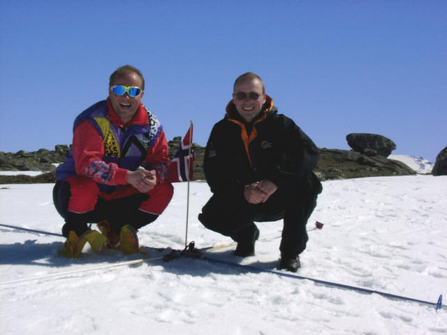 The expedition members, Knut and Ingar