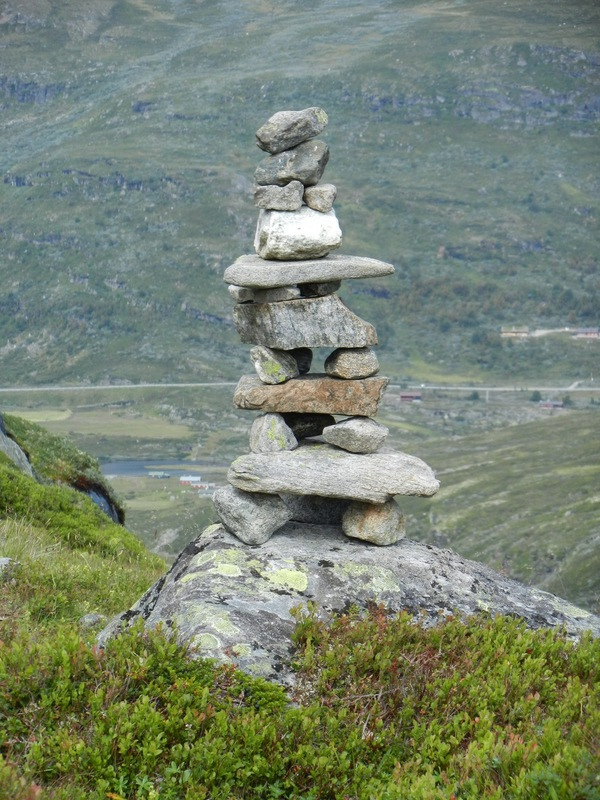DNT cairn marking the trail