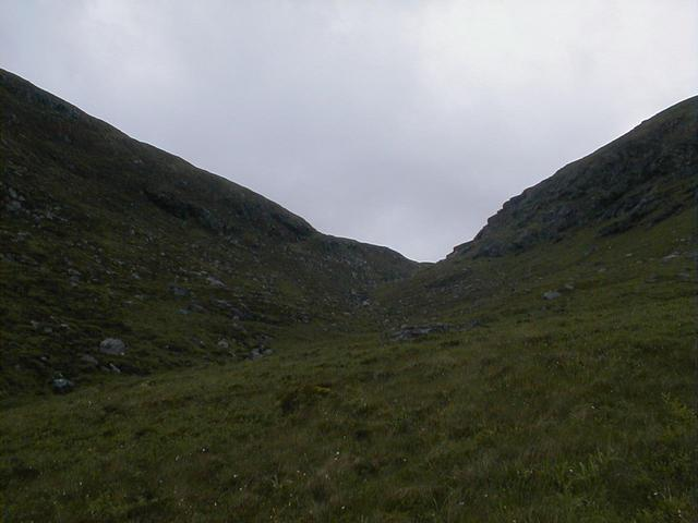 From the confluence toewards East, up the small valley.