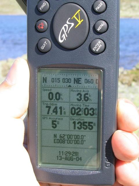 The GPS receiver at the confluence point