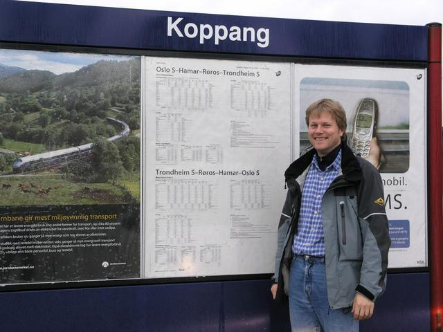 Leaving Philip at the Koppang railway station