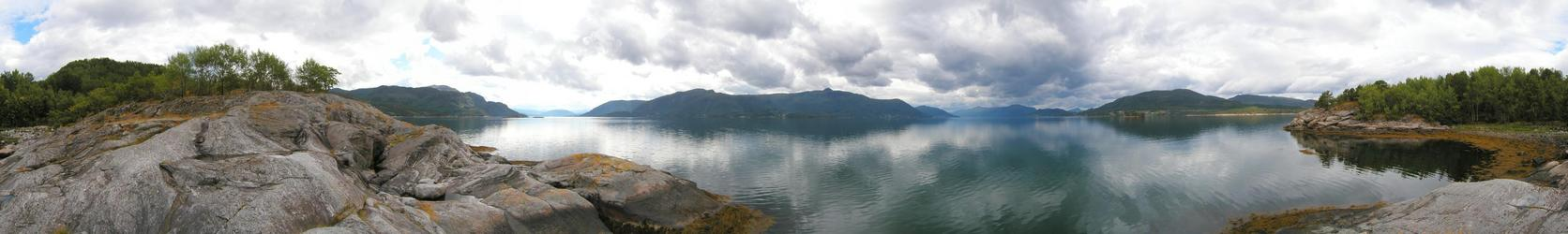 Panorama from confluence area