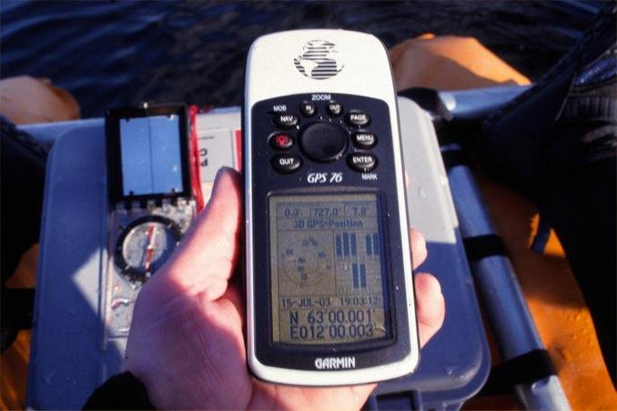 GPS on lake at altitude 727 meter