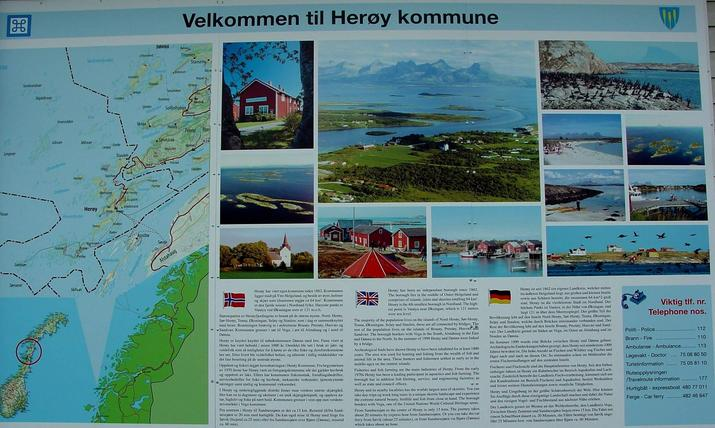 Information sign / Informationstafel der Region