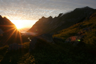 #1: midnight sun at 68°N 13°E