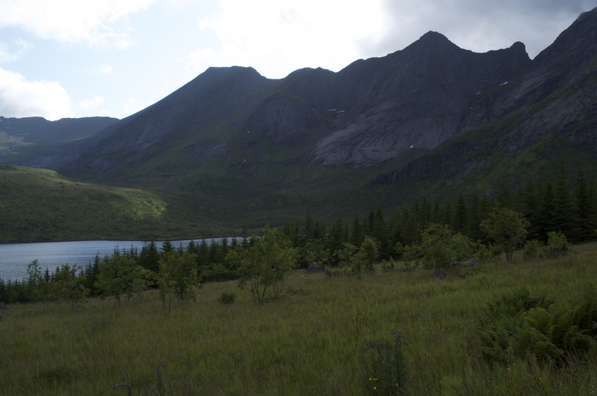 This is as close as I could get by road - 5km from the confluence point.  Unfortunately, a large mountain is in the way.
