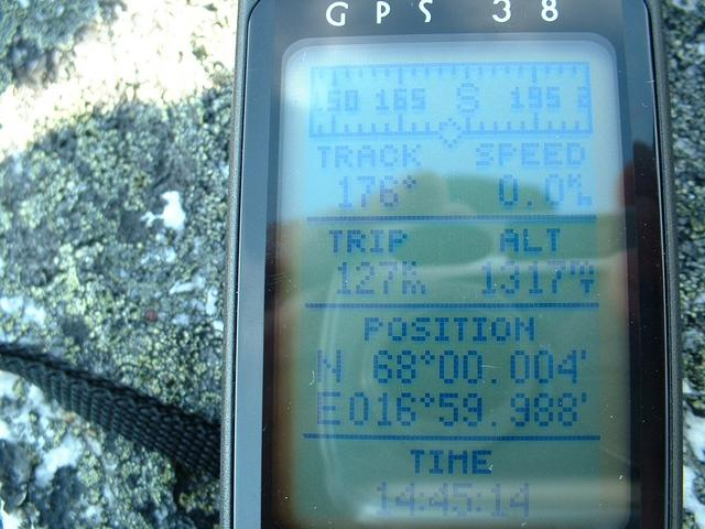 GPS screen at N68/E17