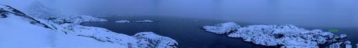 #1: Panorama with approximate confluence point, Nyksund to the left
