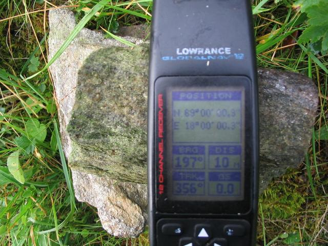 The gps on the confluence point.