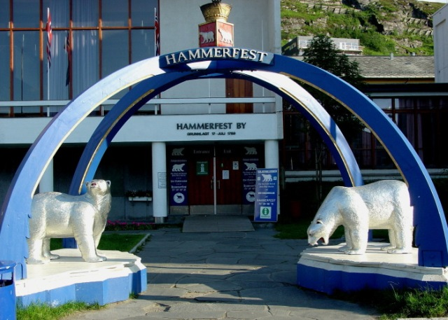 Hammerfest city gate/symbol