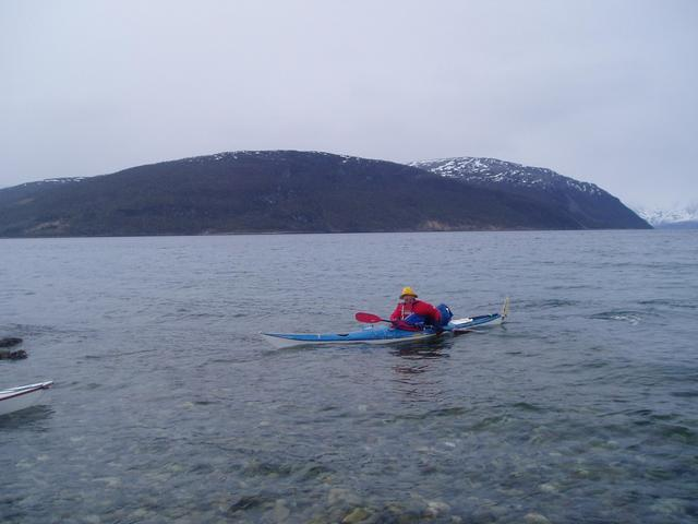 Bjørn is departing from Storeng - CP 900 meters SW behind him.