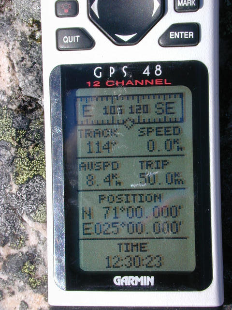 A photo of the GPS for proof.