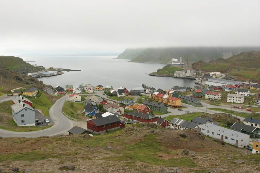 view over Honningsvåg