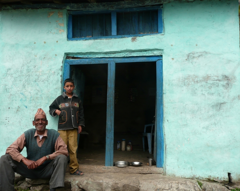 A house by the trail for serving Nepali chai tea