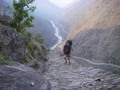 #7: Greg hiking up the 1000 m cliff