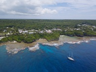 #7: Niue's capital 'city' of Alofi, just a few km away.