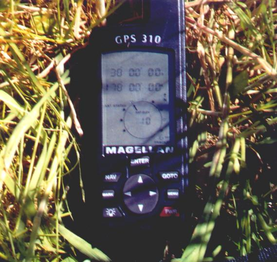 The evidence!- the GPS at the exact site.