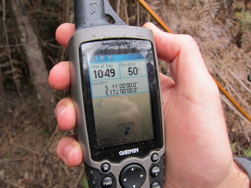 GPS, showing coordinates and altitude