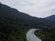 #9: View West (of the Hokitika River, flowing towards the Tasman Sea) from 120m above the point