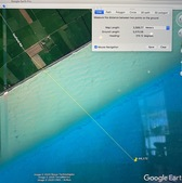 #3: Path to the Degree Confluence Point in Google Earth