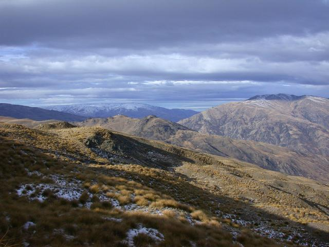 View looking east towards the Dunstan Range and Leaning Rock.
