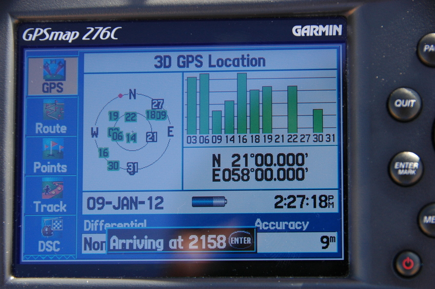 21N 58E - GPS Confirmation