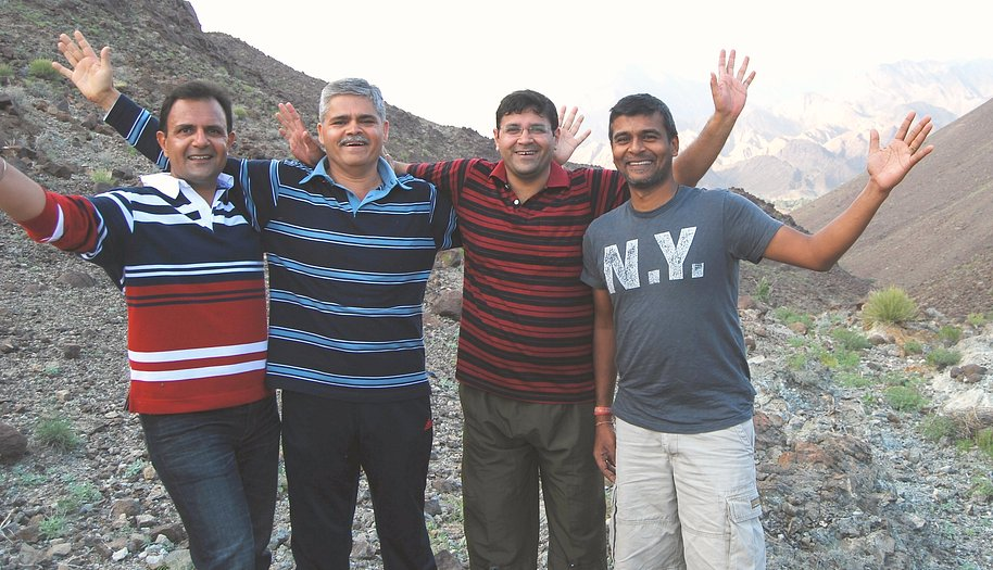 The Confluence Team (L-R): Anupam, Ajay, Dhiraj, Dinesh, Aayush (behind camera)