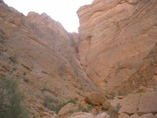 #1: 840 m from the Confluence, a steep rockface