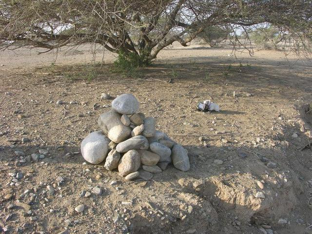 The cairn, as we've left it / So haben wir den Steinmann hinterlassen