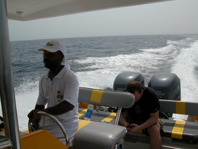Captain Saheem crusing at 50 km per hour