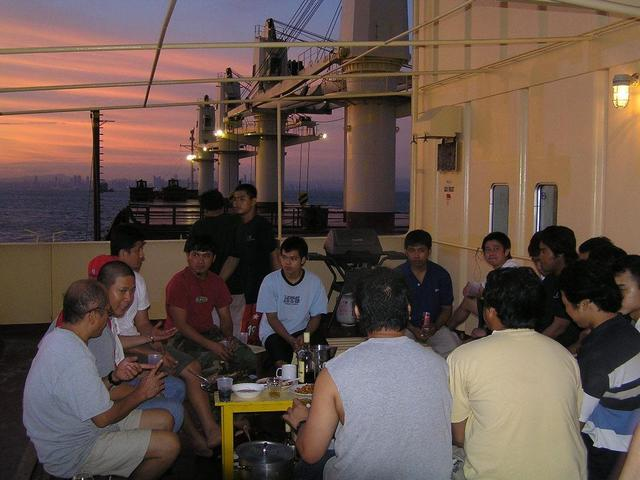 A barbecue party off Panama City