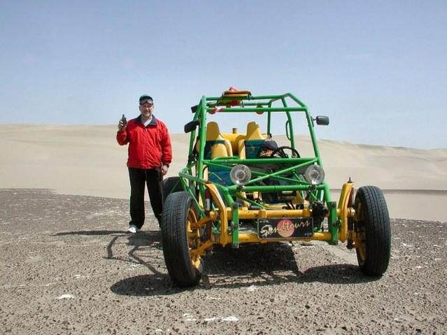 Me next to the dune buggy.