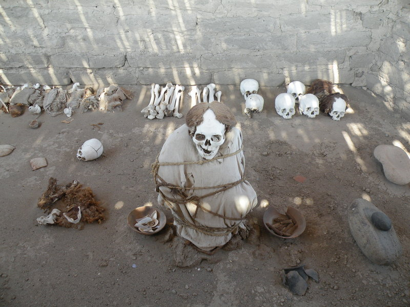 Mummy at Chauchilla Cementery