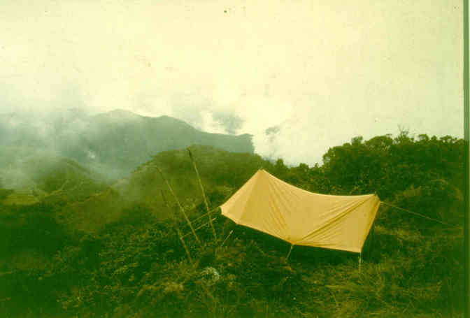 My tent on Mt Yelia