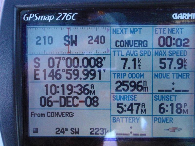 GPS Screen Shot near Confluence after drifting