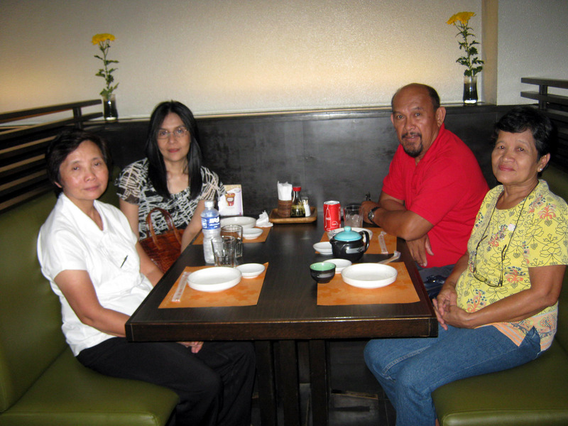 Dining with Esper and Fe, our hosts in Davao City